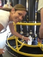 C-MORE Scholar Lisa Hall sampling from the rosette during HOT-267