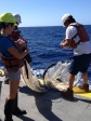 Blake Watkins and Lisa Hall deploying a plankton net tow during HOT-267