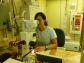 Shimi Rii isolating Trichodesmium spiralis on the microscope