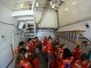 Safety drill on the Kilo Moana