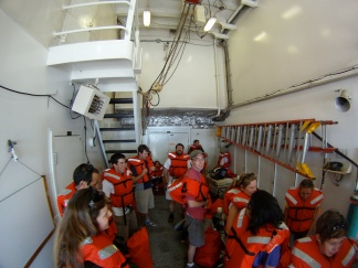 Safety drill on the Kilo Moana